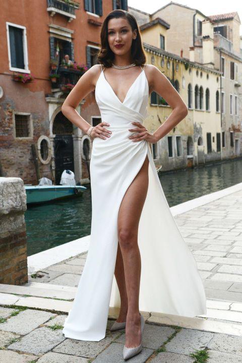 Bella Hadid highest dress slits