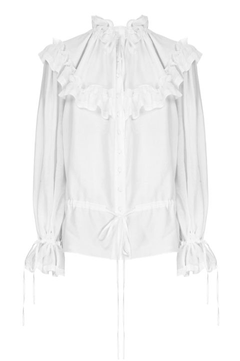 Flow the Label Batiste Ruffled Blouse, €366; flowthelabel.com