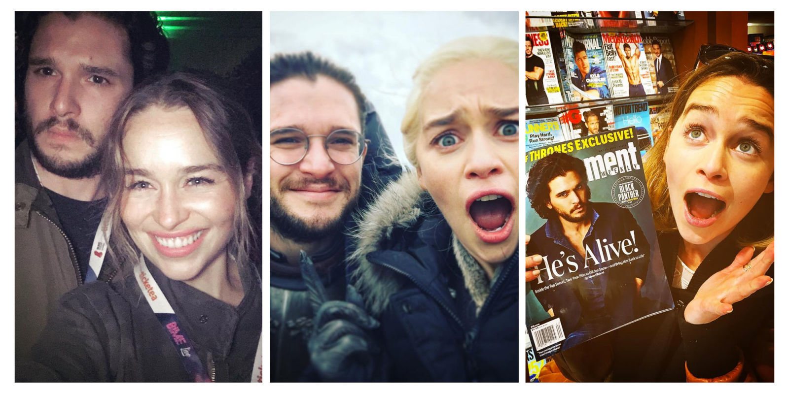 11 Times Kit Harington and Emilia Clarke's Friendship Was the Best Thing About 'Game of Thrones'