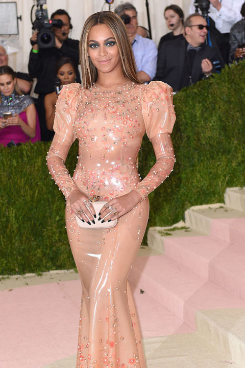 Each pearl on Beyoncé's 2016 Met Gala custom-made latex dress was rumored to cost between $6,000 and $8,000. The exact price is unknown, but given that she was covered from top to bottom in pearls, it's safe to say, she belongs somewhere in our top 10. Shop a similar look: Flower appliqué pearls zip-up evening gown, $200, dresswe.com