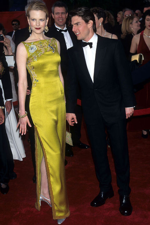 Made by Christian Dior Haute Couture, this embroidered piece was worn by Kidman to the 69th Academy Awards in 1997. Shop a similar look: Sleeveless green evening dress, $49, metisu.com