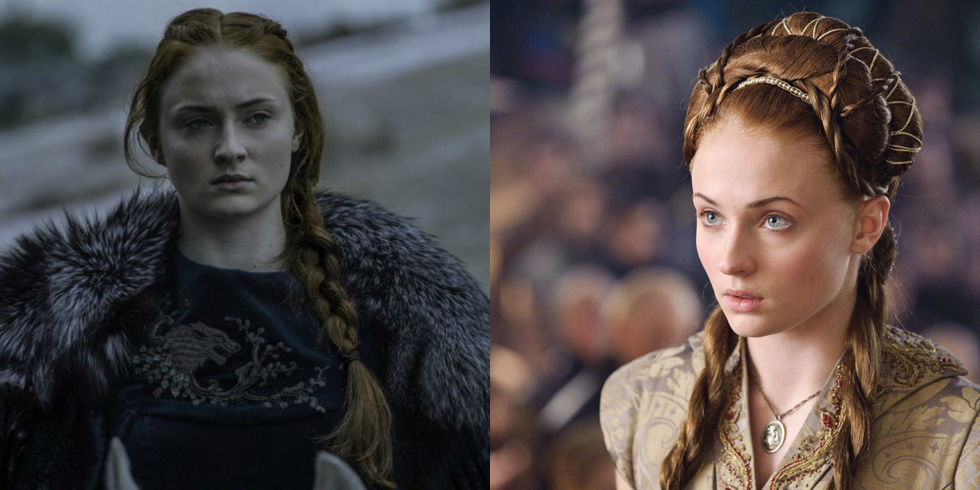 All of Sansa Stark's Most Meaningful Hairstyles from 'Game of Thrones'