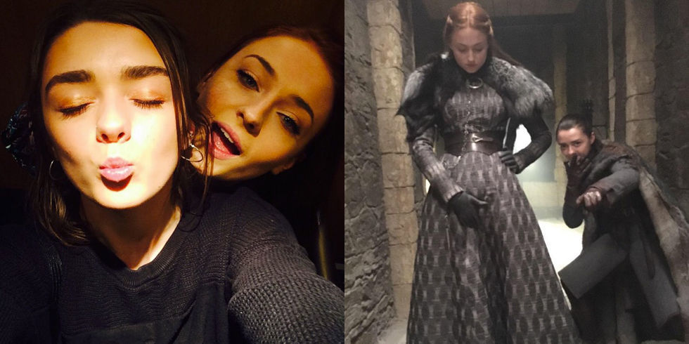 All of Sophie Turner and Maisie Williams Greatest Friendship Moments