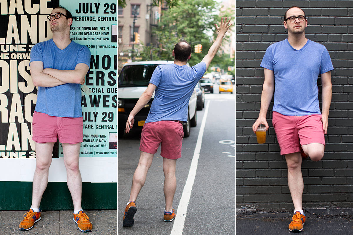 Men Wear Short Shorts