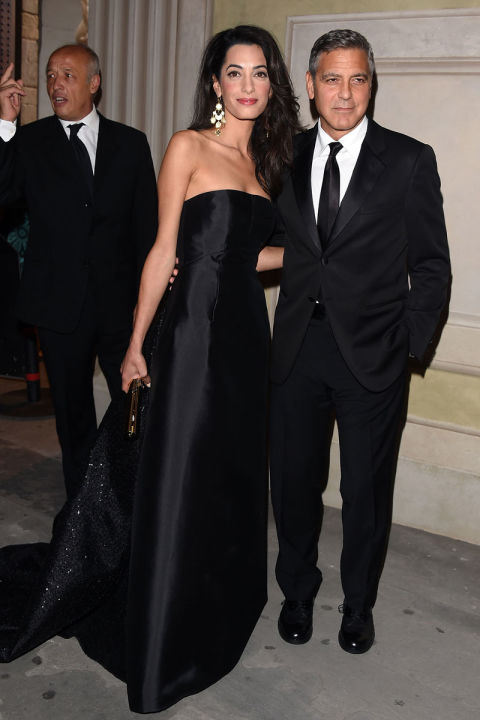 With George Clooney at a gala in Florence.