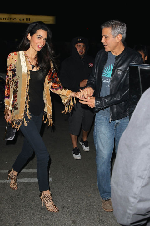 Going out for sushi with George Clooney in Studio City, California.