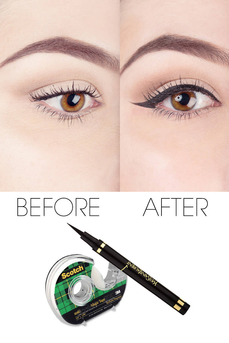 Liquid Eyeliner Tips - Scotch Tape Tips to Perfect Your ...