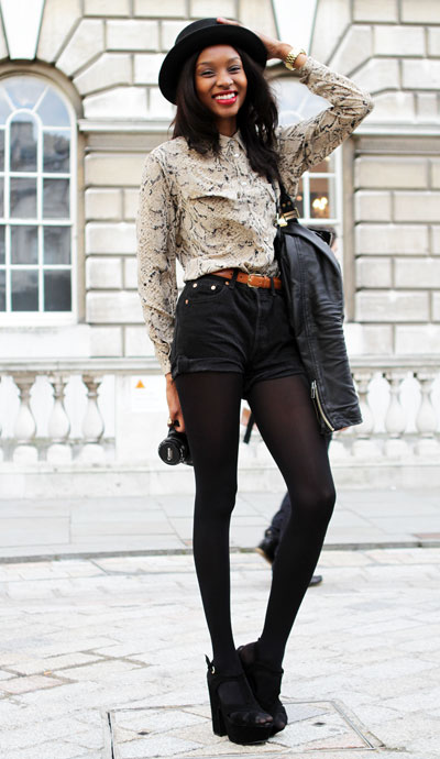 How to wear shorts with tights in summer