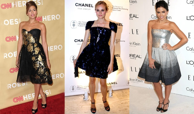 Celebrity Fashion: Holiday Cocktail-Party Frocks