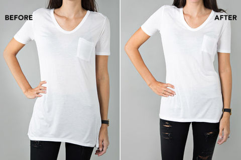 I tailored my t shirts like jennifer aniston for Tailored fit shirts meaning