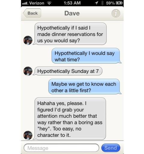 Tinder hookup advice
