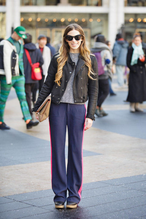 Fashion Week Street Chic Elle Editors New York Street Style