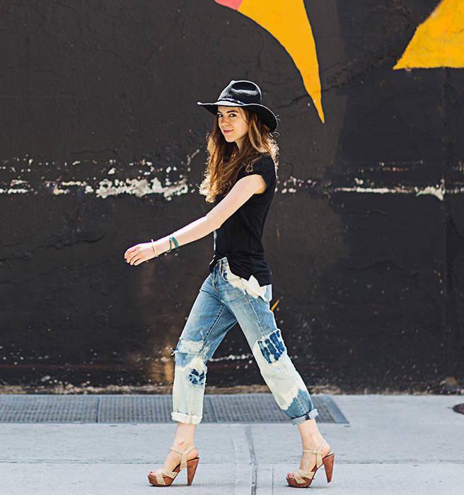How to Distress and Bleach Jeans - High Fashion DIY Denim ...