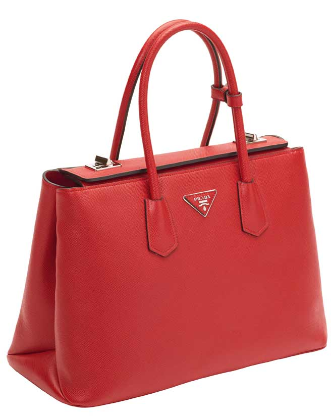 New Prada Bag - Twin Bag Prada - prada galleria bag red+white