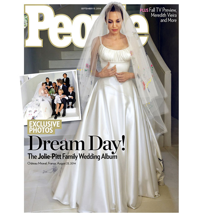 See Angelina Jolie&-39-s Wedding Dress-Angelina Jolie Versace Wedding ...