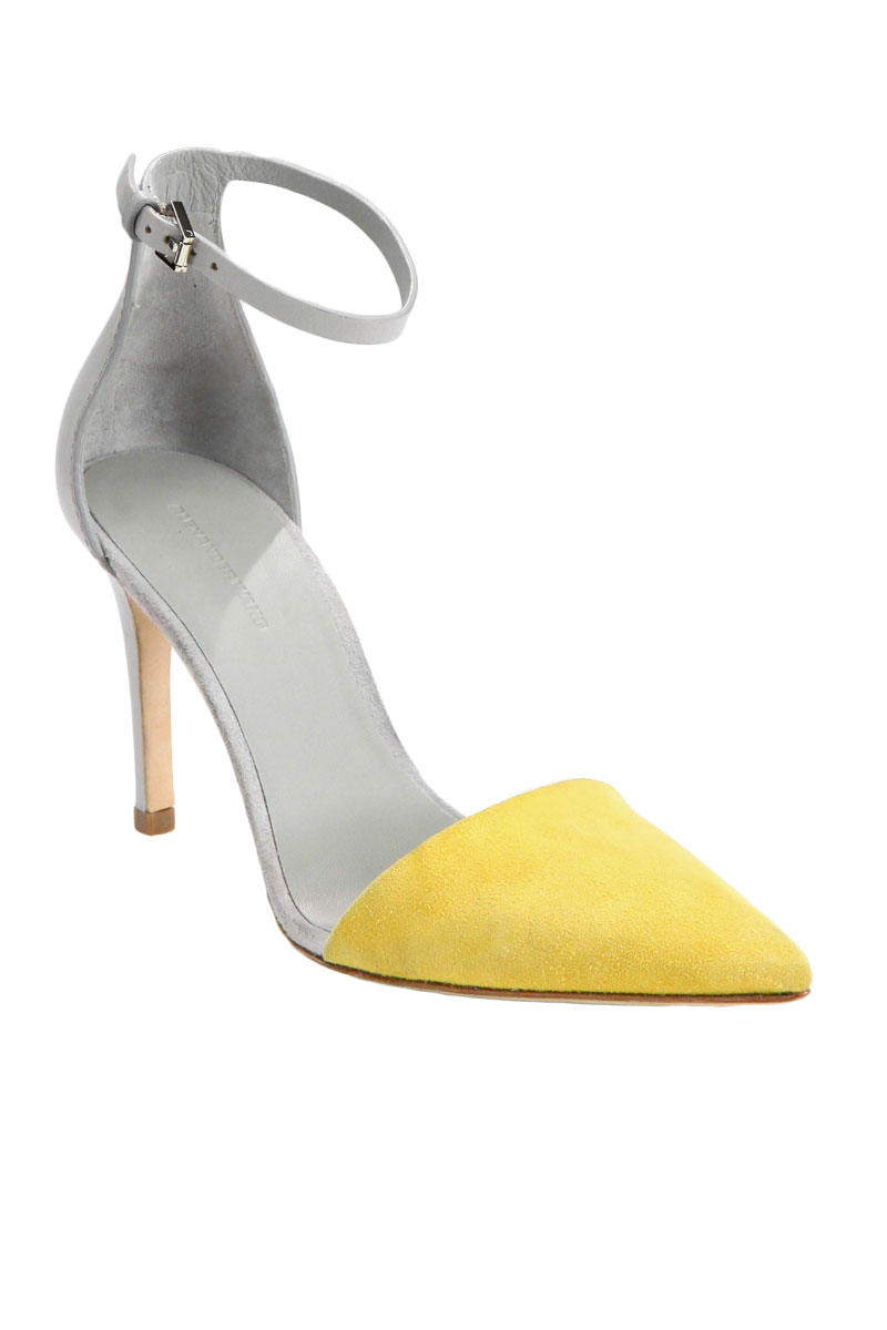 Gray And Yellow Heels - Is Heel