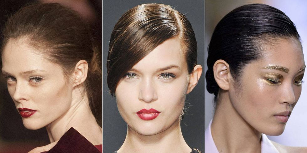 Fine Low Buns Seen On The Runway Low Bun Hairstyles For Spring Short Hairstyles Gunalazisus