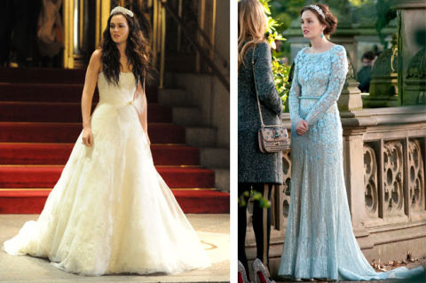 Adam brody and leighton meester are engaged blair for Wedding dress blair waldorf