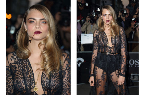 Cara Delevingne Weird Mouth Toothpick Accessory