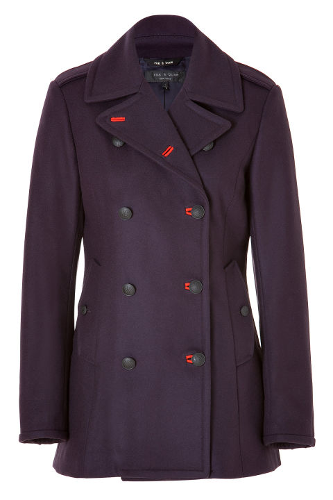 "Rag & Bone Wool ""Battle"" Pea Coat, $680; stylebop.com"
