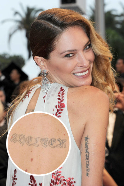 Models with tattoos kate moss chanel iman and female for Kate moss tattoo