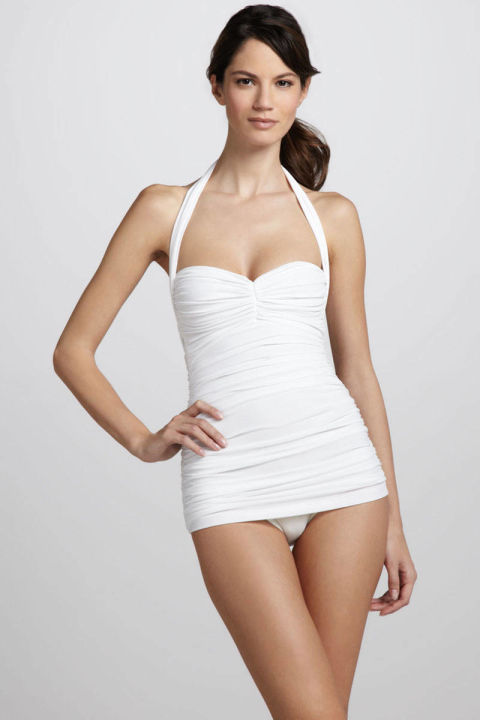 White One Piece Swimsuit Sexy White Bathing Suits