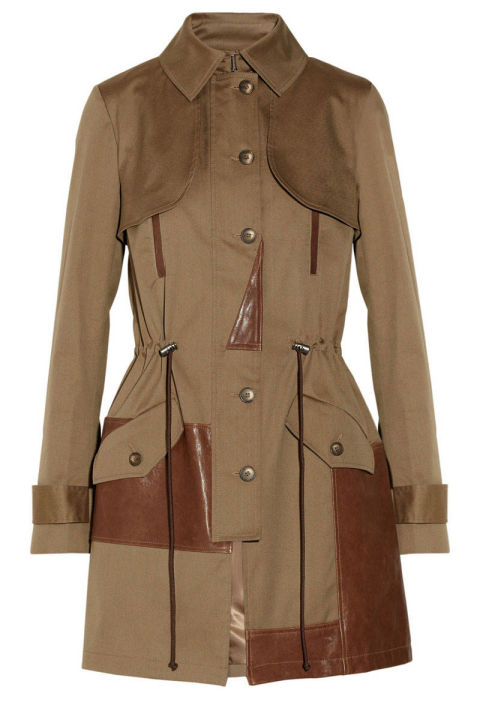 35afff3abaa5e ... The iconic trench is reinvented with leather finishes that make it fit  for the uptown and