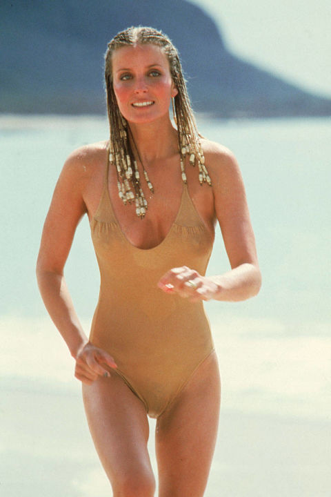 This beyond basic nude one-piece proved sometimes it's the simpler things in life that matter the most, unless you factor in Bo Derek's trendsetting cornrow braids.