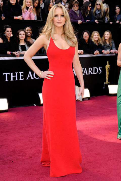 In Calvin Klein Collection at the 83rd Annual Academy Awards.