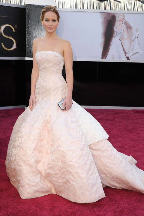 In Christian Dior at the 85th Annual Academy Awards.