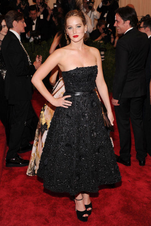 In Christian Dior at the Met Gala debut of the