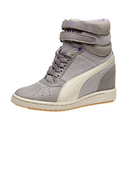 Puma Sky Wedge Chambray Sneakers, $63 (on sale); puma.com