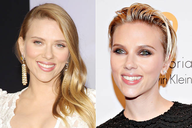 Scarlett Johansson demonstrates that when a new mom chops off her hair, it doesn't have to be dowdy.