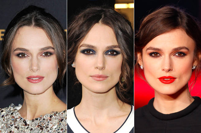 Keira Knightley would undoubtedly look just as gorgeous without makeup, but this year it was so fun to watch her experiment with everything from bold red lips to blue smoky eyes to shimmery rose shadow.