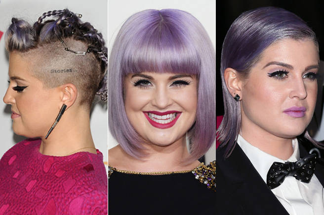 This year was all about candy-colored locks: Everywhere we looked we saw a celebrity with a new saccharine shade. But Kelly Osbourne was rocking lavender before all of them, and still keeps us on her toes with her unique styling choices.