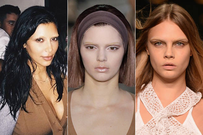 This year has been all about the eyebrows, and in some cases, the lack there of. Whether it was for a fashion show or a fashion spread, Kim Kardashian, Kendall Jenner, and brow queen Cara Delevingne all bravely allowed theirs to be bleached.