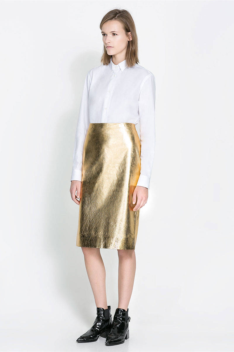 What To Wear With A Gold Skirt - Latest and Best Model Skirt 2017