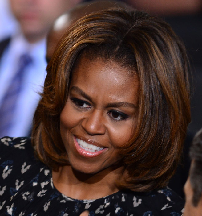 The Gallery For Gt Michelle Obama Hair Highlights