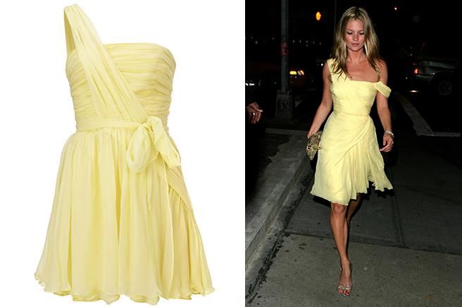 Top yellow dress kate moss