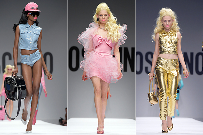 barbie has inspired moschino for spring 2015