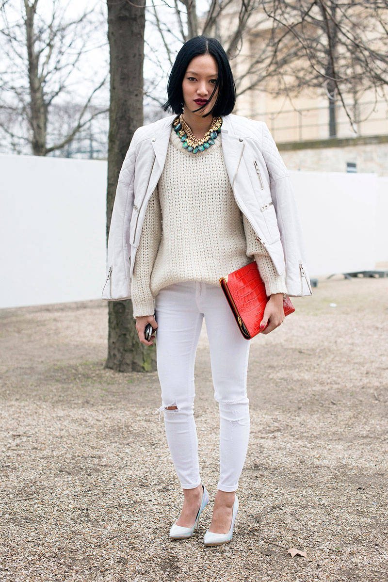 How to Wear White Denim - Ways to Style White Denim in the Winter