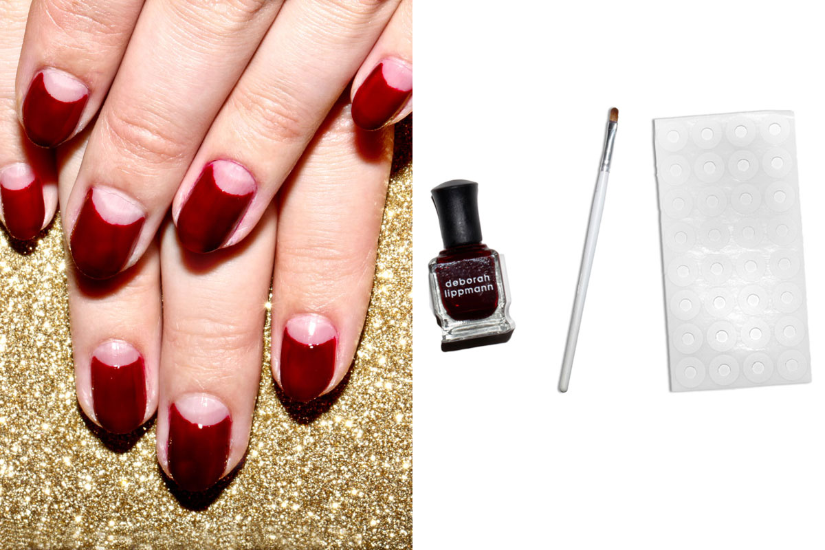 how to create a halfmoon manicure in 4 easy steps half
