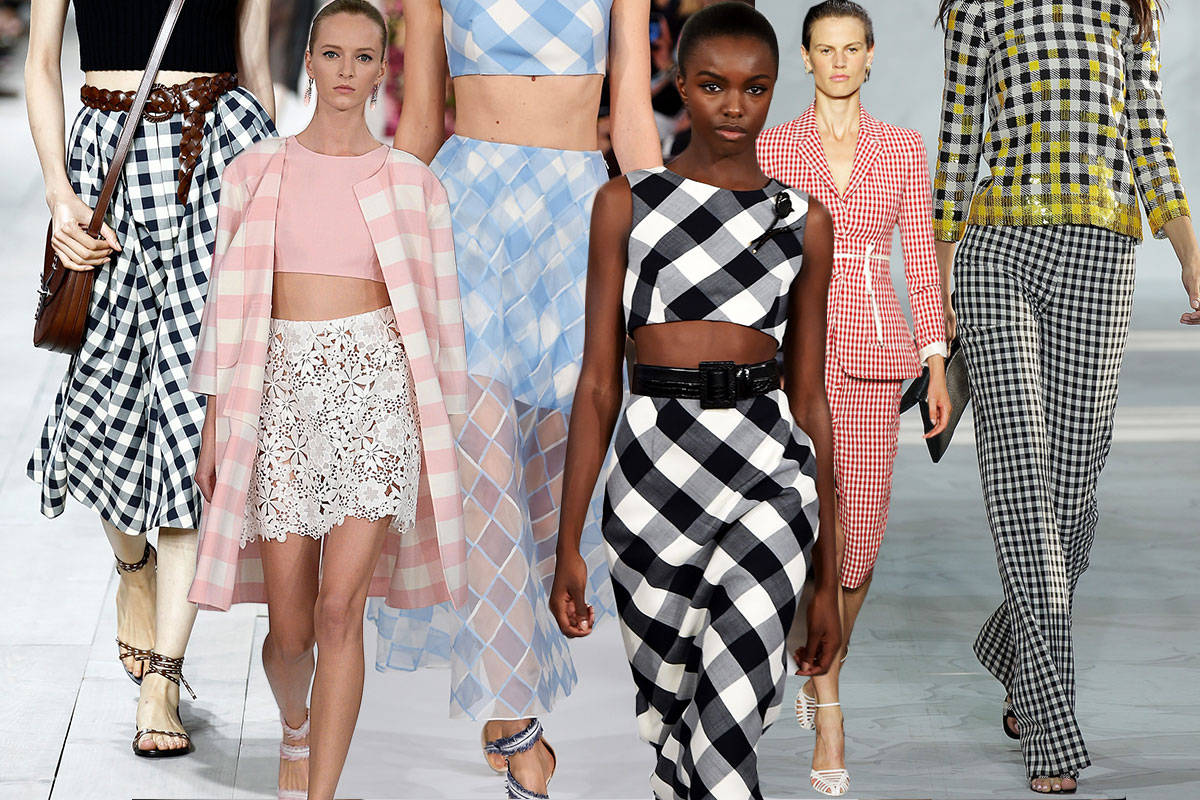 gingham trend for spring 2015 gingham takes the spring 2015 runways. Black Bedroom Furniture Sets. Home Design Ideas