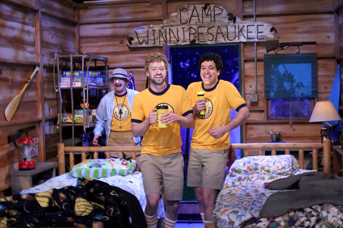 Justin Timberlake Jimmy Fallon Third Eye Blind The Tonight Show together with Fallon timberlake also Justin Timberlake Jimmy Fallon Play Teenage C ers In Tonight Show Skit 03 moreover Timberlake Fallon Sing Hootie The Blowfish At C  Winnepesaukee likewise Page 423. on justin timberlake jimmy fallon camp skit