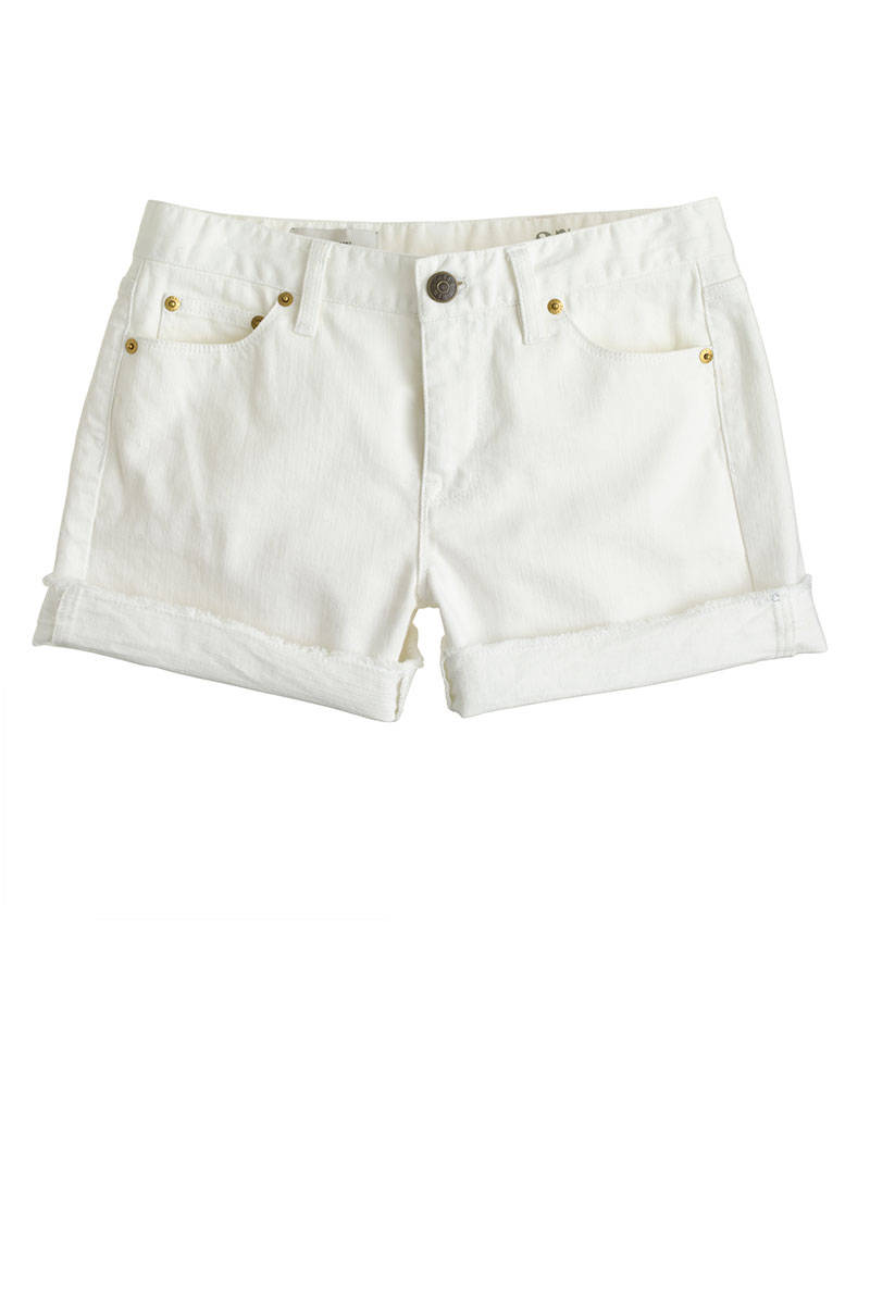 White Denim Jean Shorts