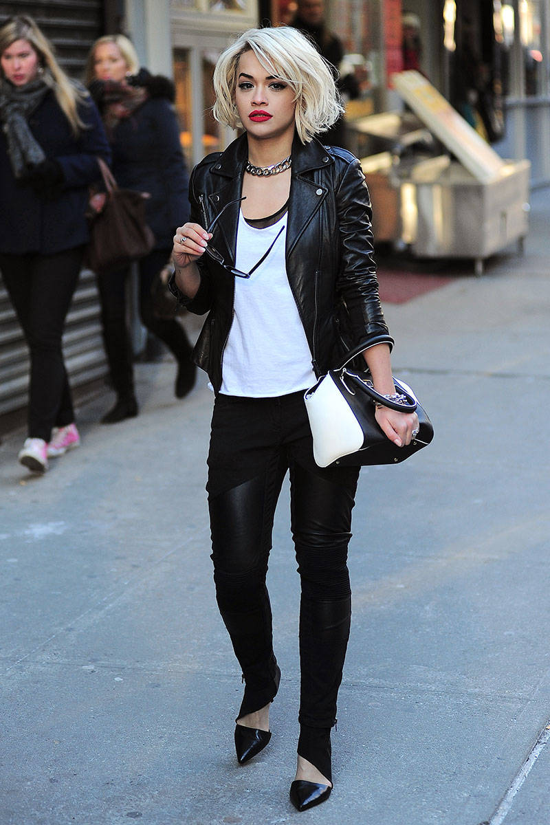 Pics For Celebrity Winter Street Style