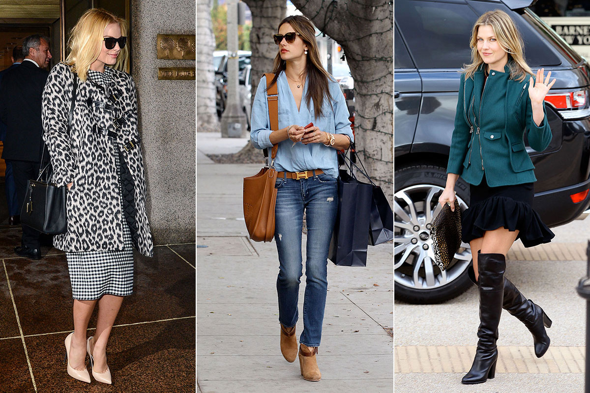 Celebrities Winter Street Style Photos Of Celeb Street Style