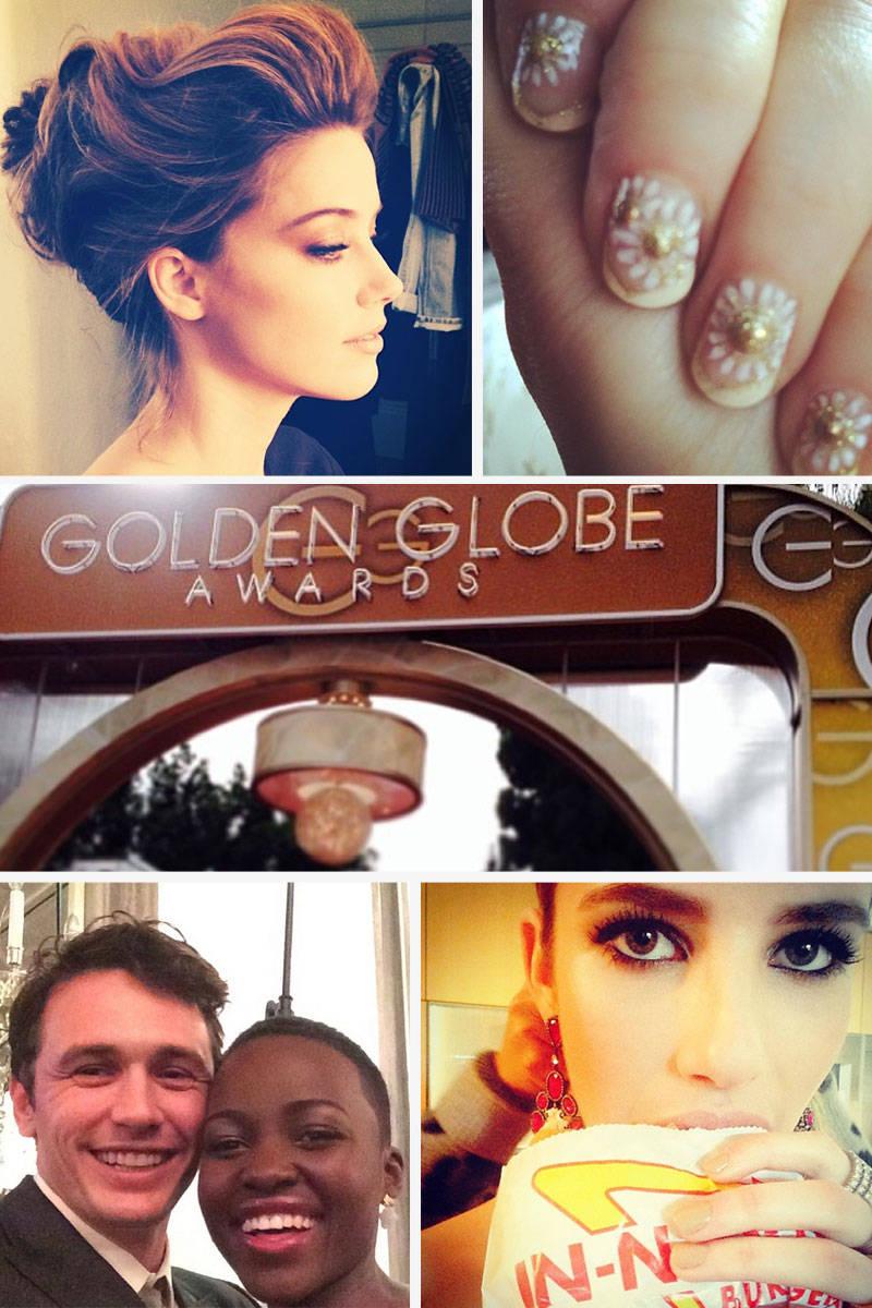 Golden Globes Celebrity Instagrams