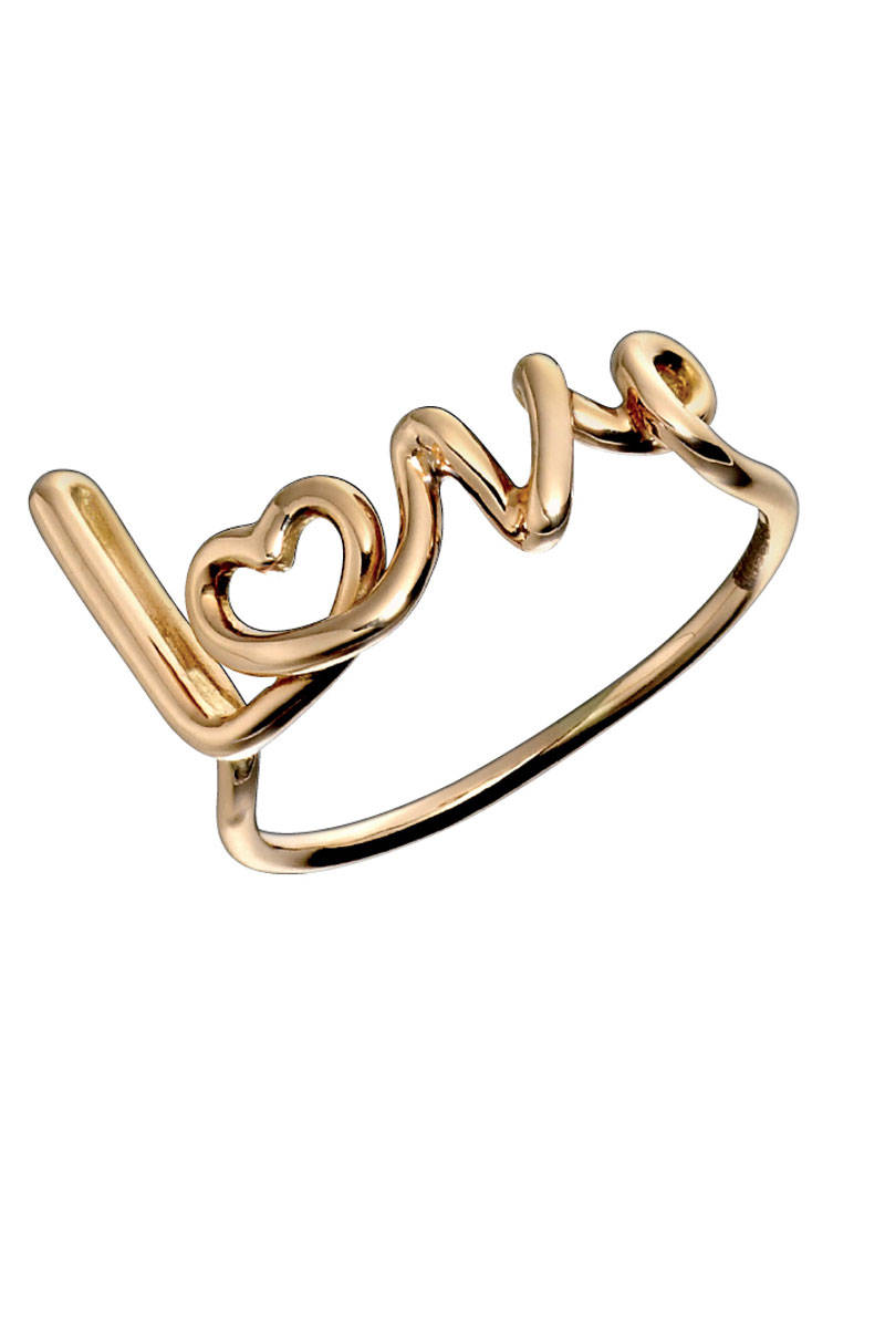 Love Ring in 18K Rose Gold, Solange Azagury-Partridge, $1,300;