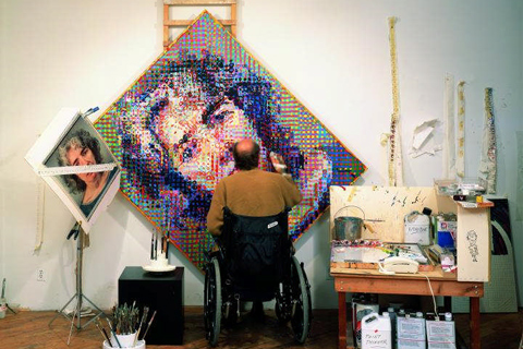chuck close exhibit chuck close photo maquettes
